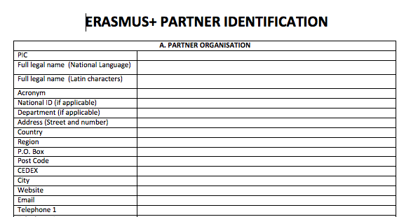 erasmus partner form